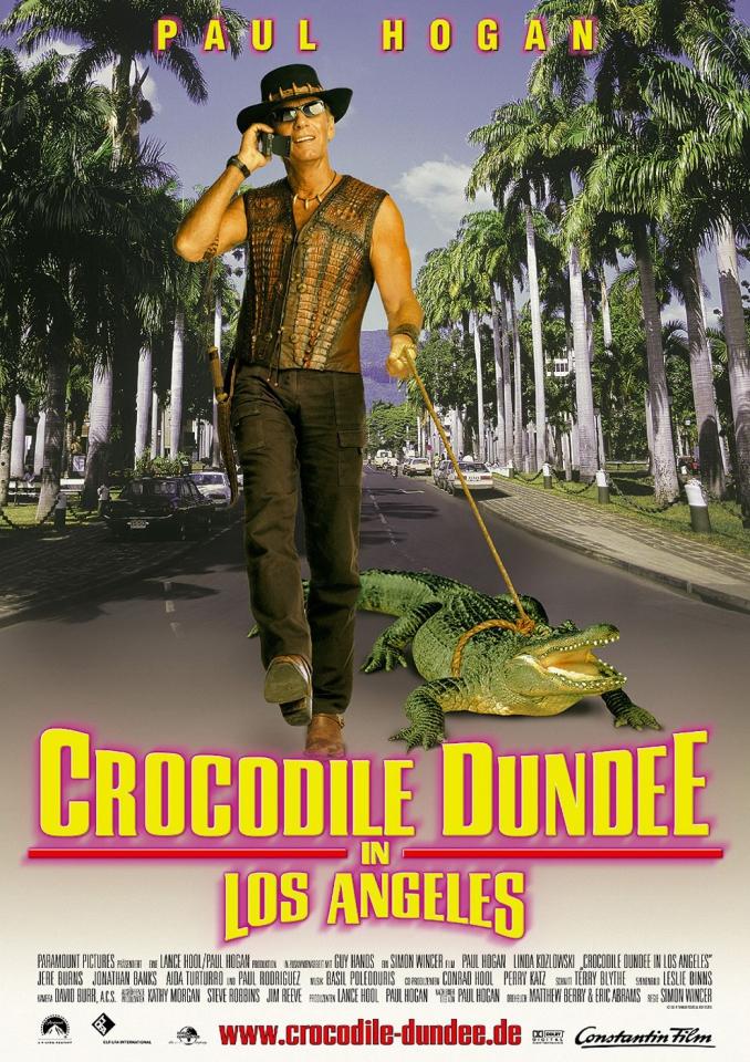 плакат фильма Крокодил Данди в Лос-Анджелесе