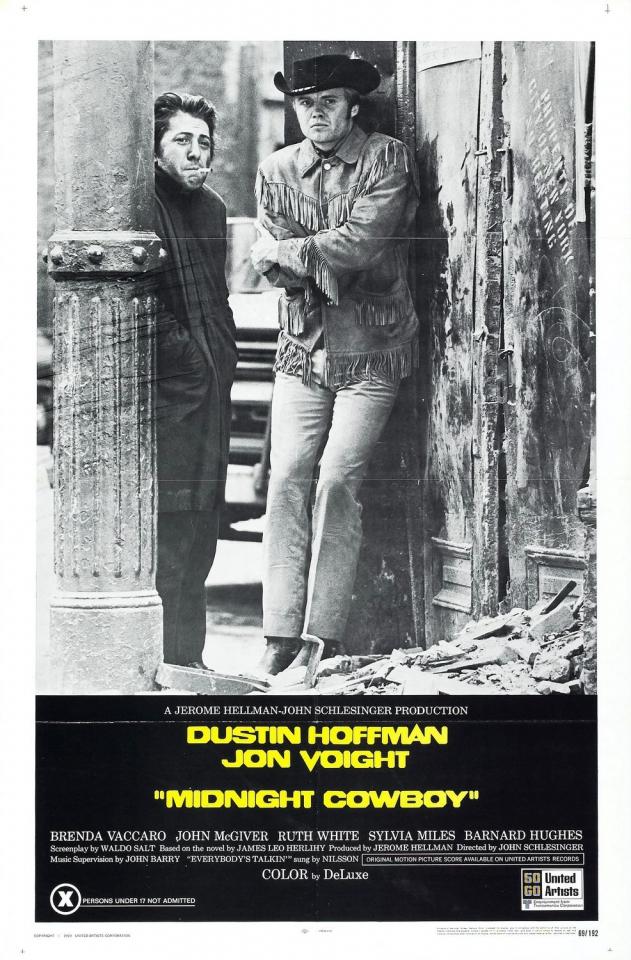 плакат фильма постер Полуночный ковбой