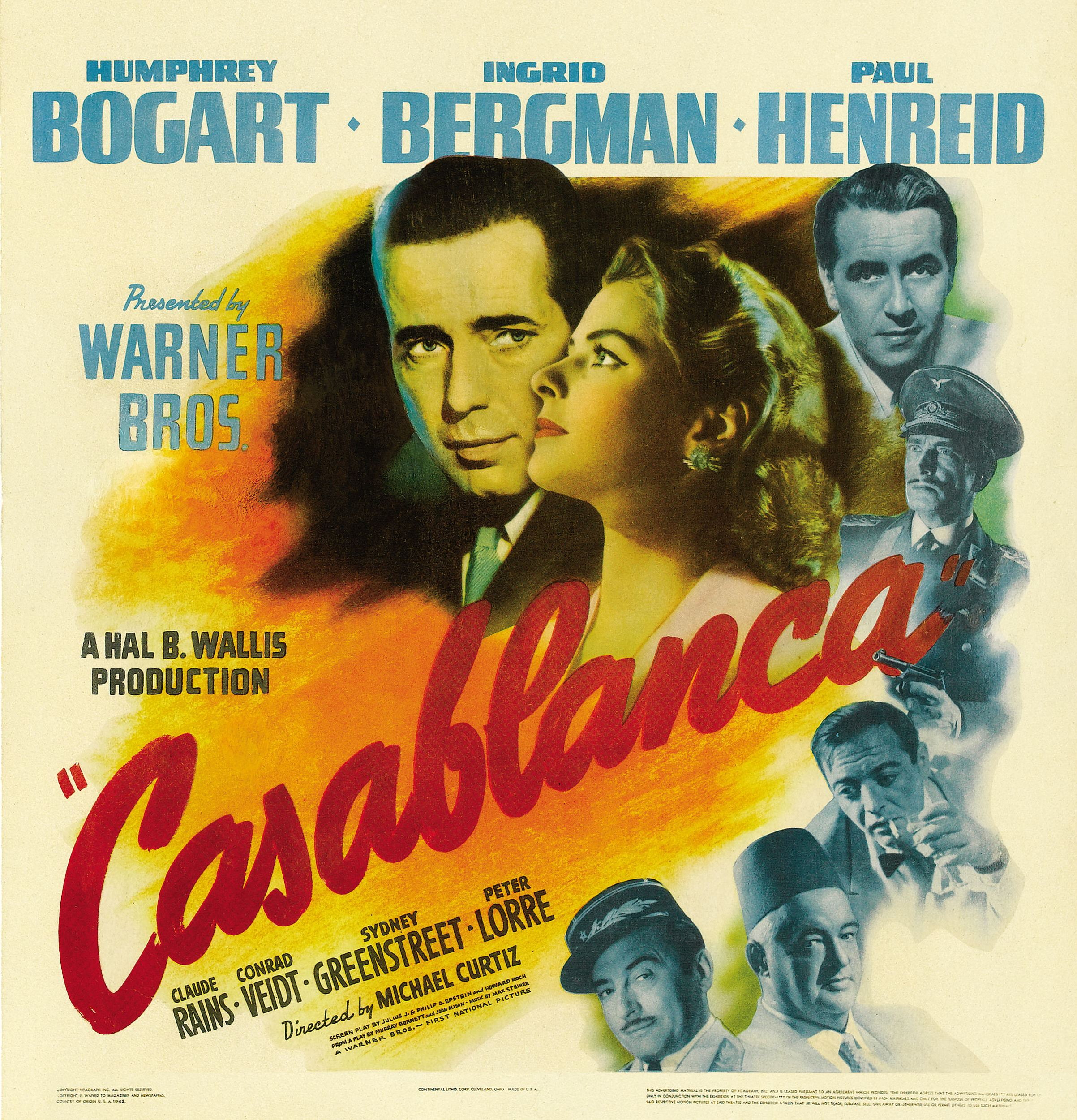 Movie casablanca year produced