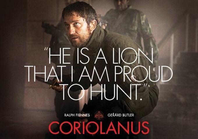 плакат фильма биллборды Кориолан