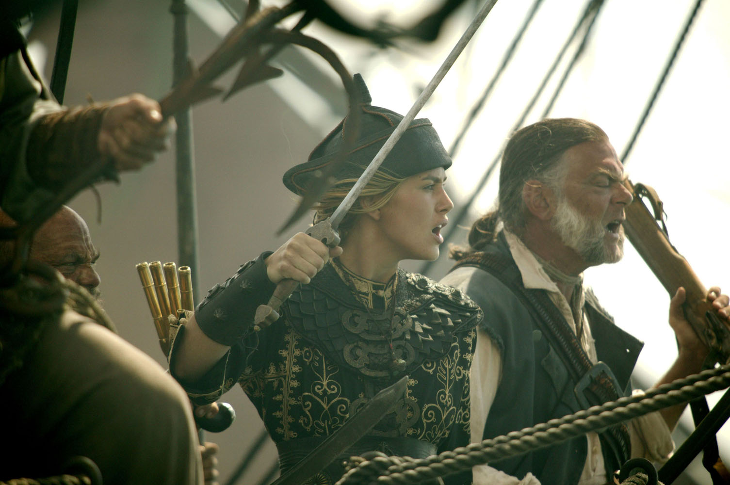кадры из фильма Пираты Карибского моря: На краю света Кевин МакНэлли, Кира Найтли,