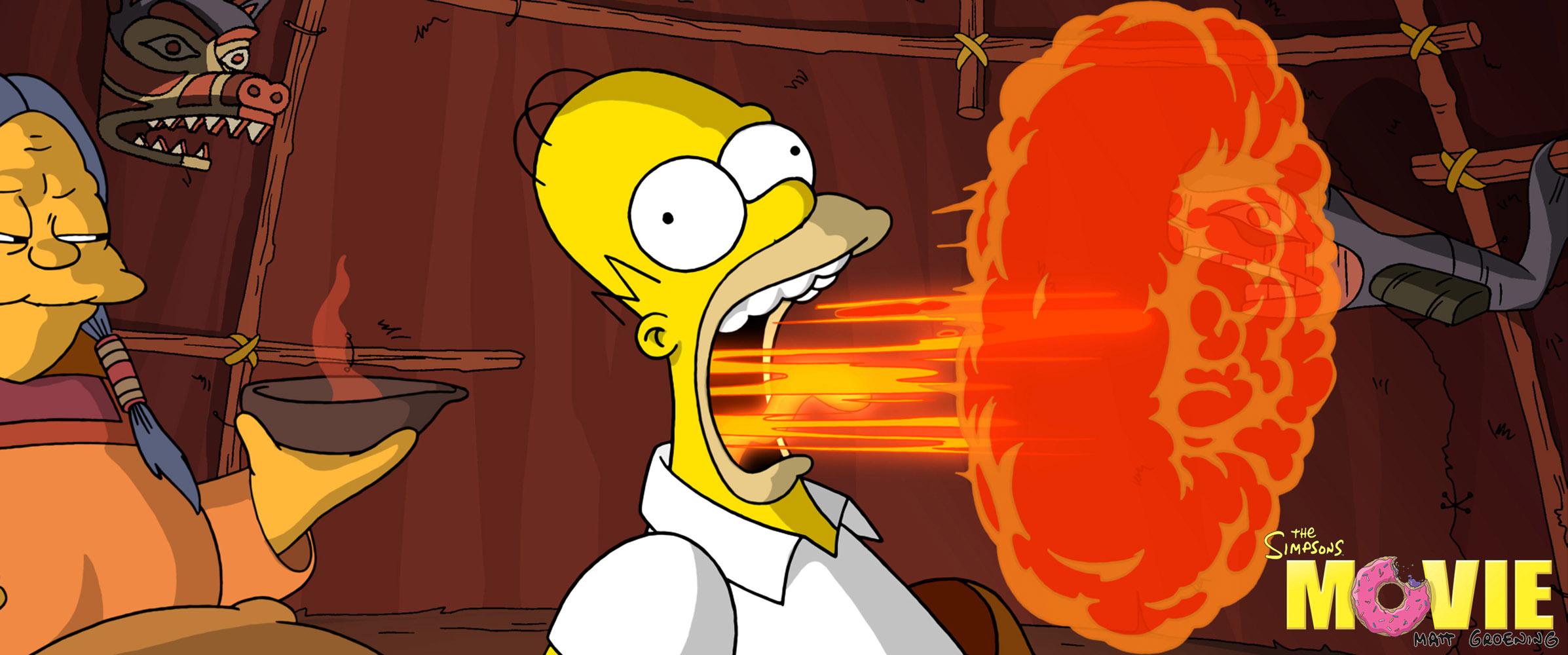 кадры из фильма Симпсоны в кино