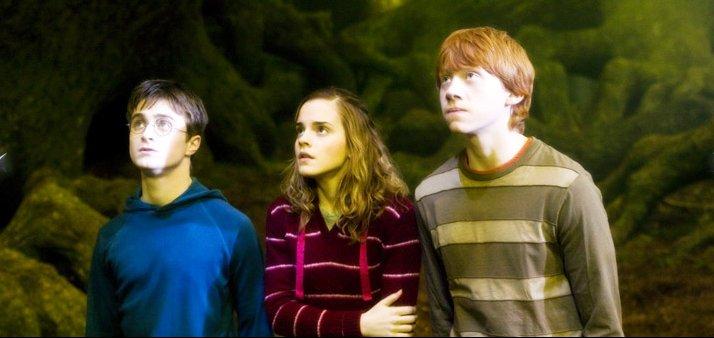 кадры из фильма Гарри Поттер и Орден Феникса Эмма Уотсон, Руперт Гринт, Дэниэл Рэдклифф,