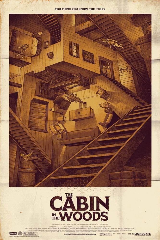 плакат фильма арт-постеры Хижина в лесу