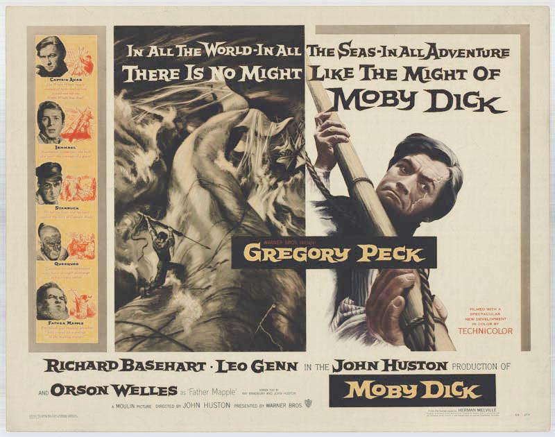 плакат фильма биллборды Моби Дик