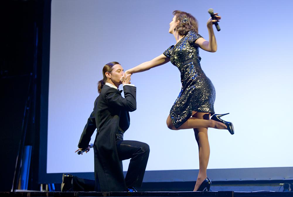 Церемония награждения Российской народной кинопремии «Жорж 2012» Валерия Ланская, Алексей Франдетти,