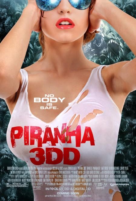плакат фильма постер Пираньи 3DD