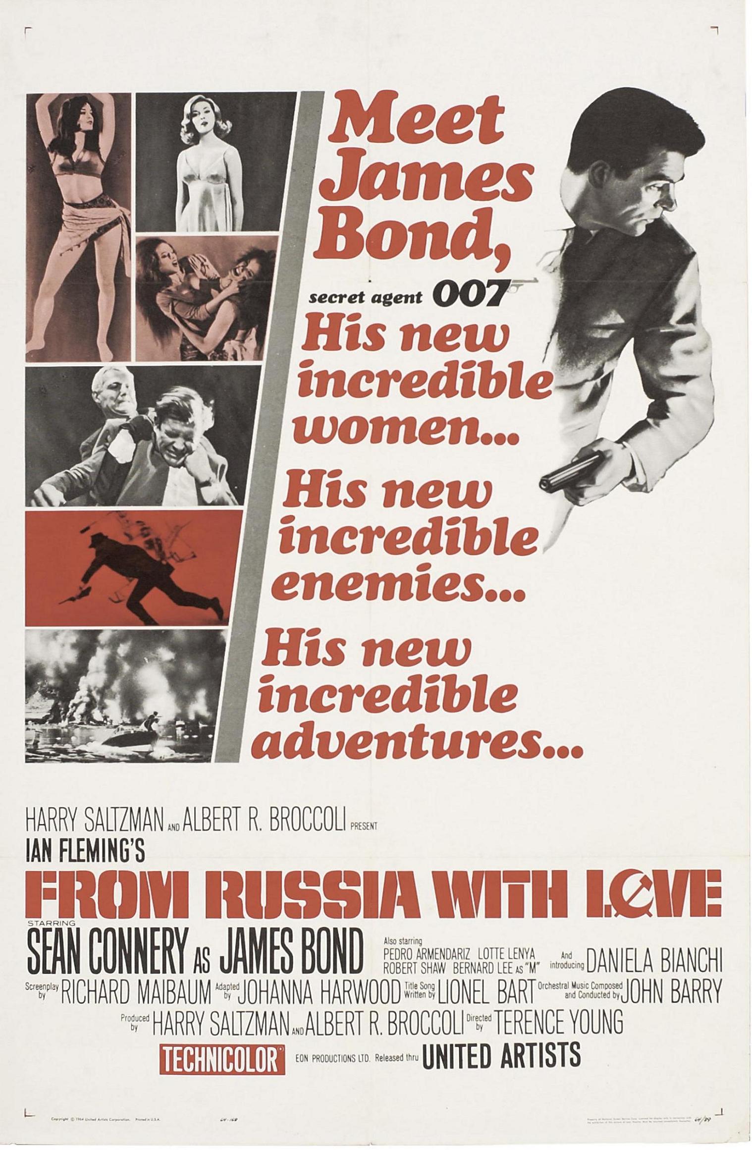 плакат фильма постер Из России с любовью