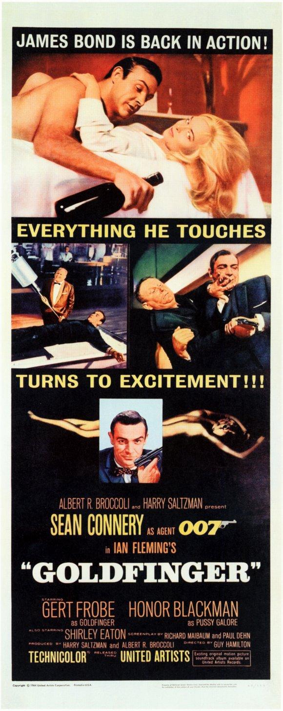 плакат фильма баннер Голдфингер