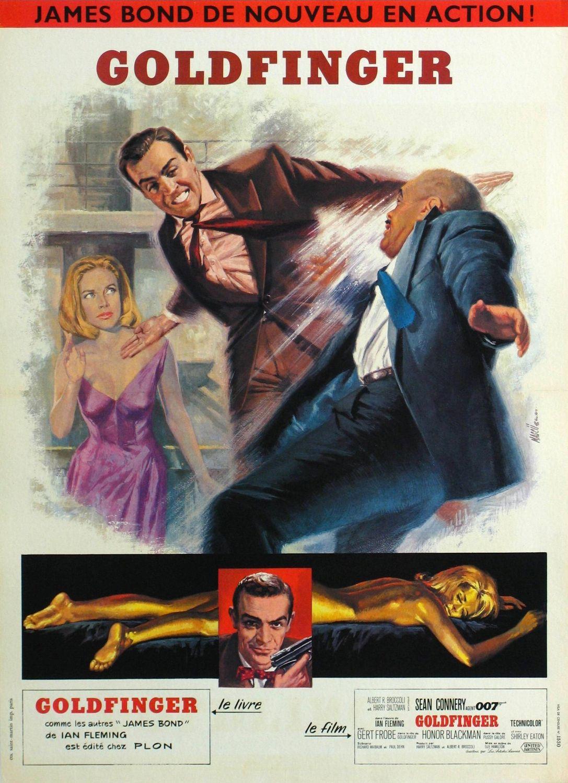 плакат фильма постер Голдфингер