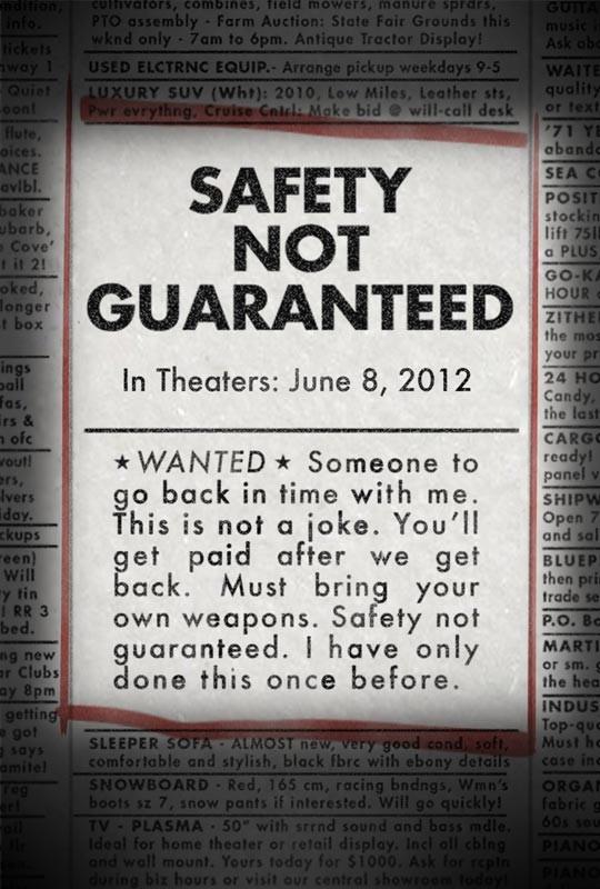 плакат фильма тизер Безопасность не гарантируется