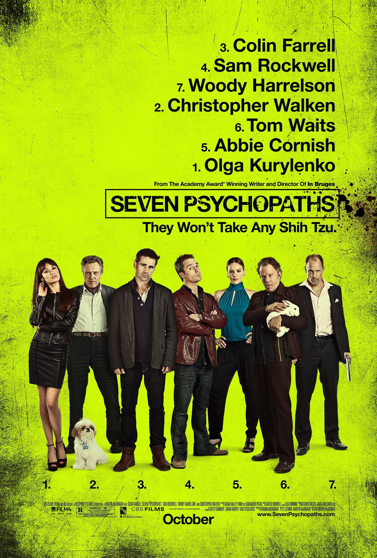 плакат фильма постер Семь психопатов