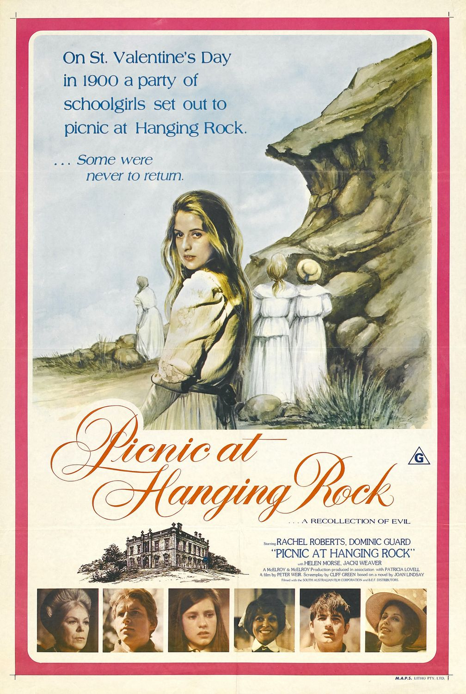 плакат фильма Пикник у Висячей скалы