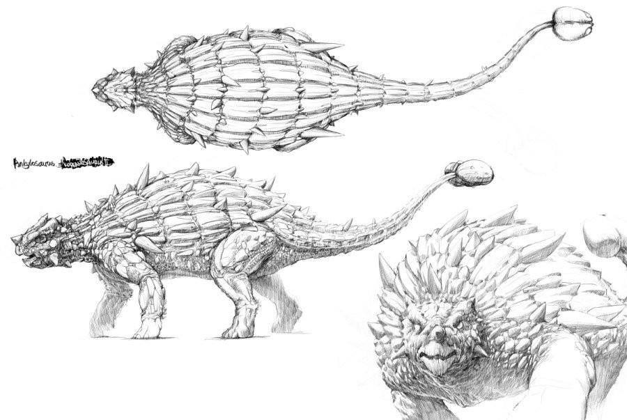 концепт-арты Тарбозавр 3D