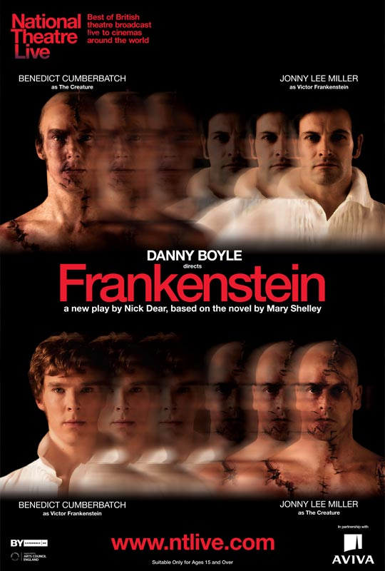 плакат фильма постер Спектакль «Франкенштейн» для National Theatre Live