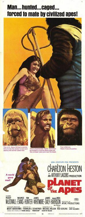 плакат фильма баннер Планета обезьян