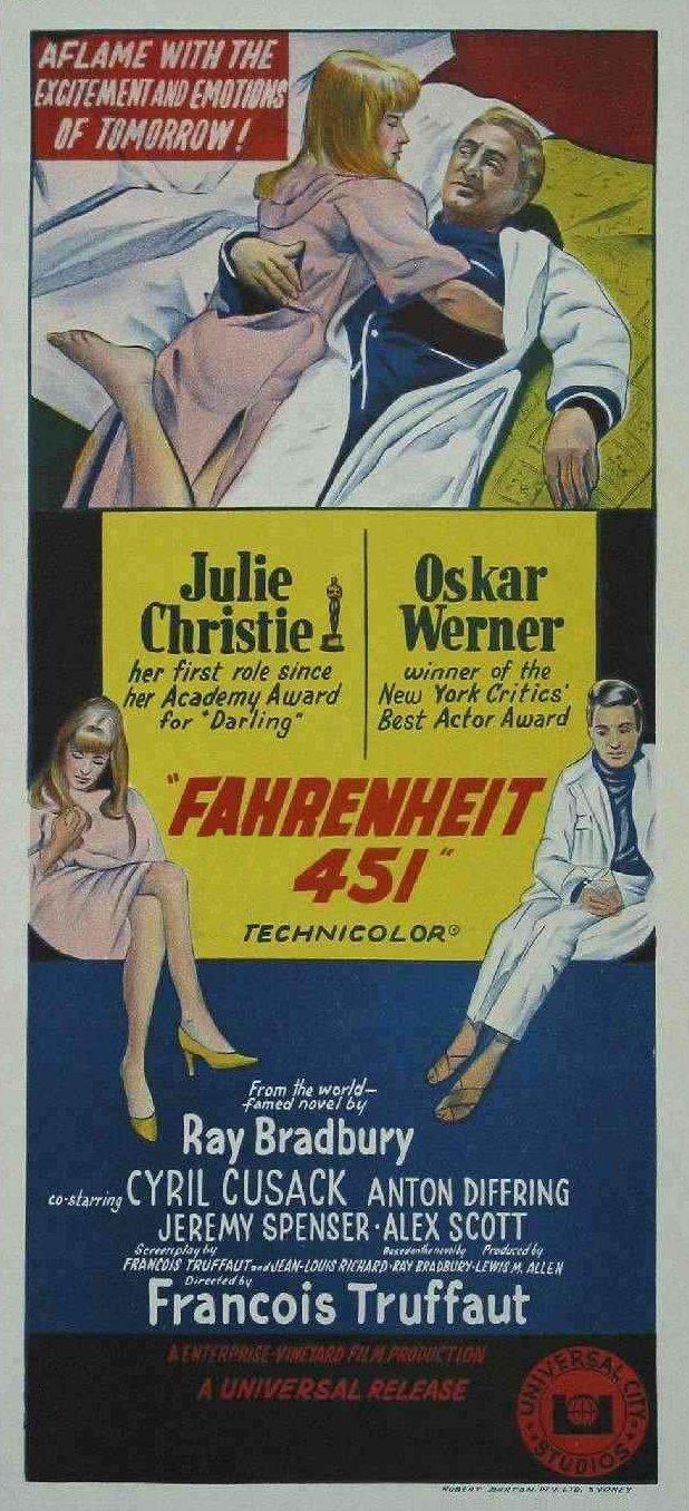 плакат фильма баннер 451 градус по Фаренгейту
