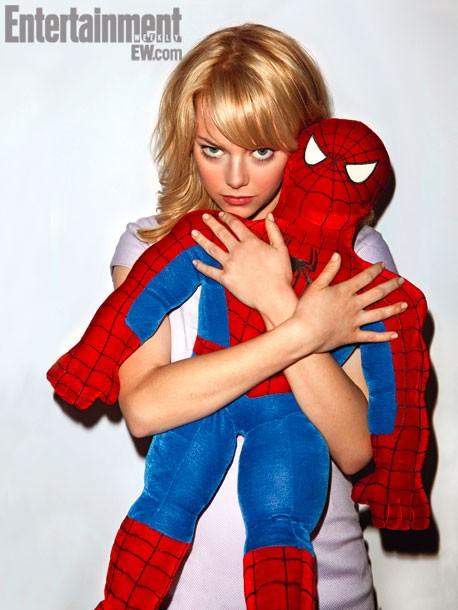 промо-слайды Новый Человек-паук Эмма Стоун,
