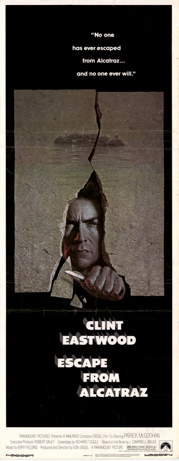 плакат фильма постер Побег из Алькатраса
