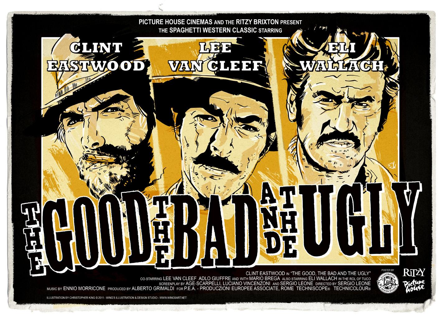 плакат фильма постер любительское Хороший, плохой, злой