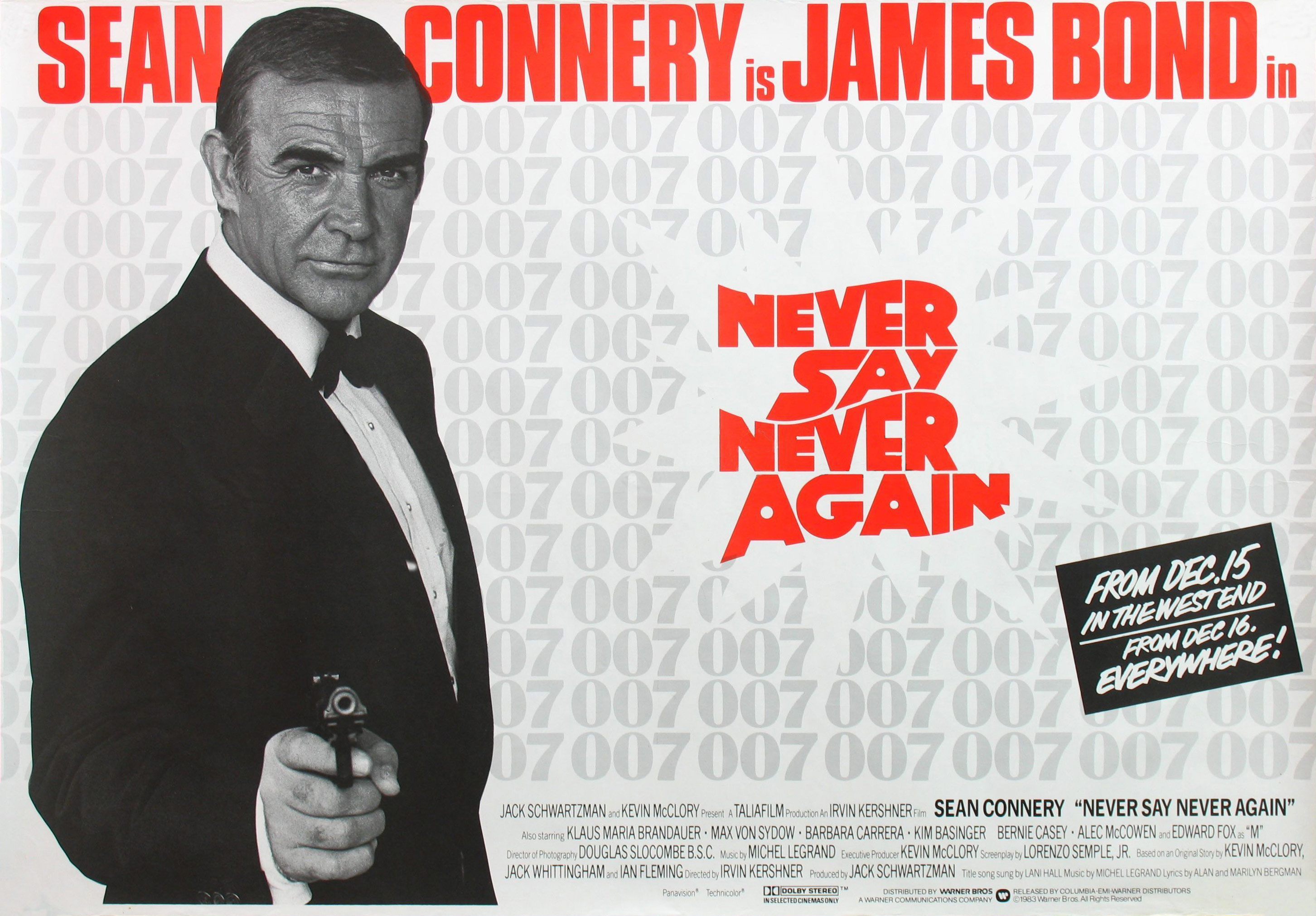 плакат фильма постер Никогда не говори «никогда»