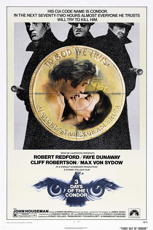 плакат фильма постер Три дня Кондора
