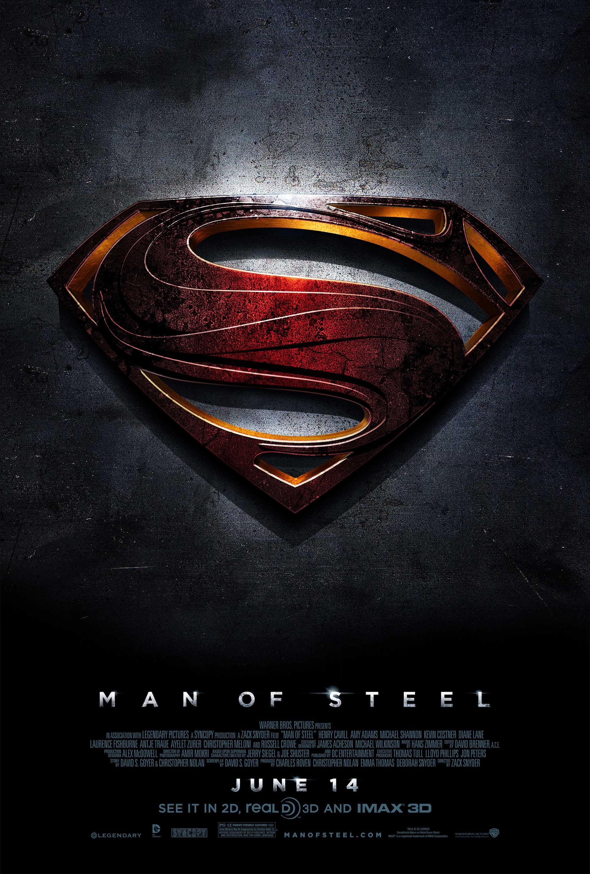 плакат фильма сейлс-арт Человек из стали