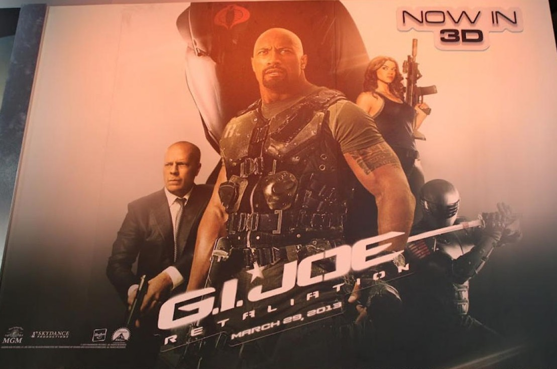 плакат фильма биллборды сейлс-арт G.I. Joe: Бросок кобры 2