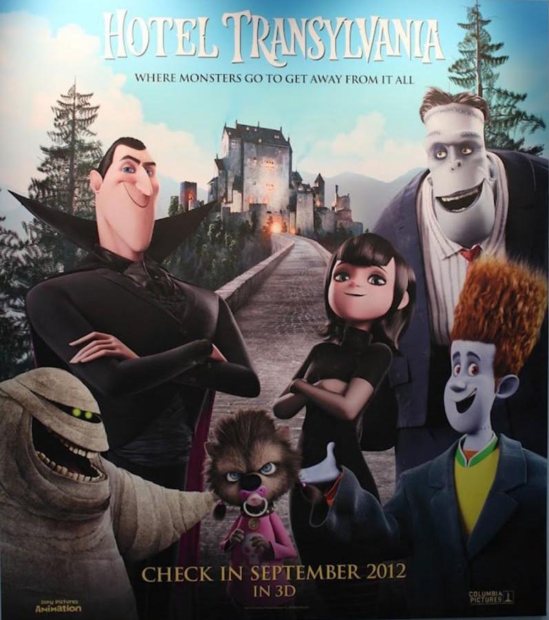 плакат фильма сейлс-арт Монстры на каникулах