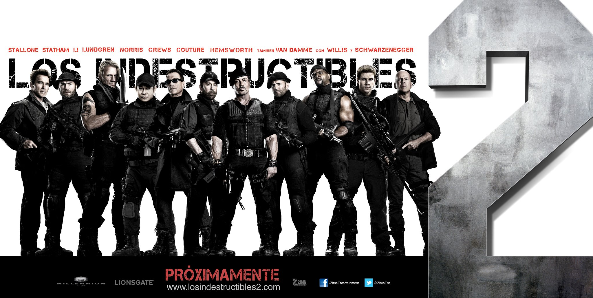 плакат фильма характер-постер баннер Неудержимые 2