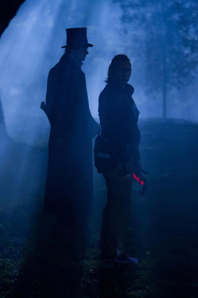 со съемок Президент Линкольн: Охотник на вампиров Бенджамин Уокер,