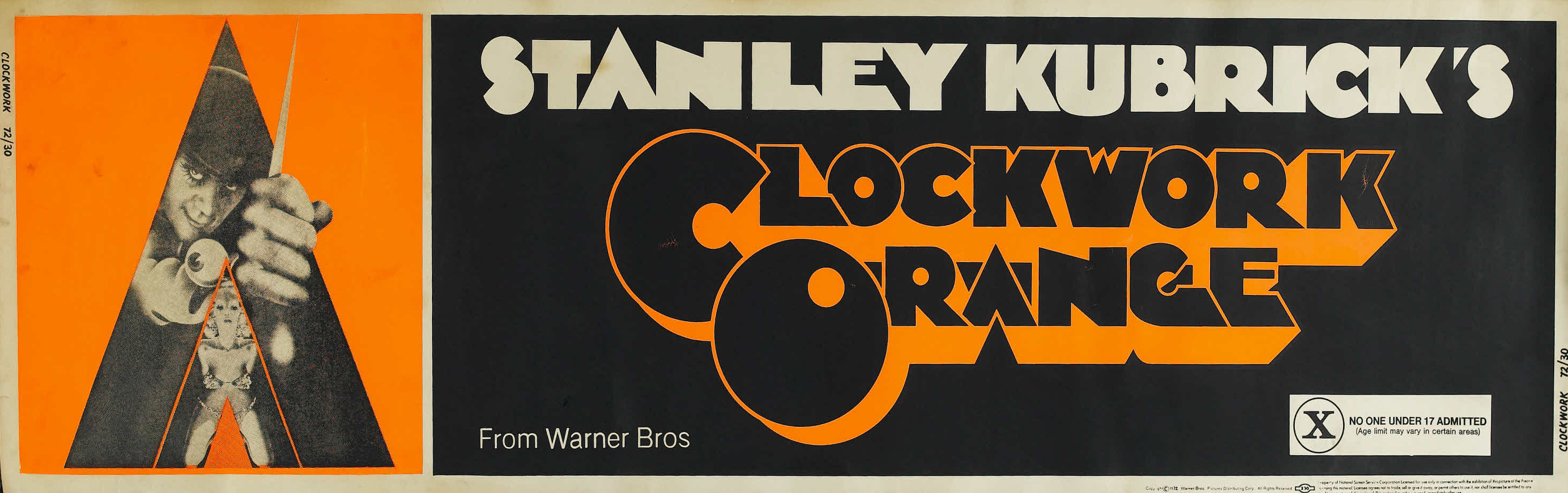 плакат фильма баннер Заводной апельсин