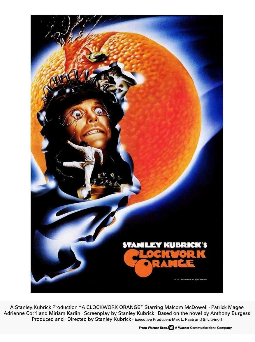 плакат фильма Заводной апельсин