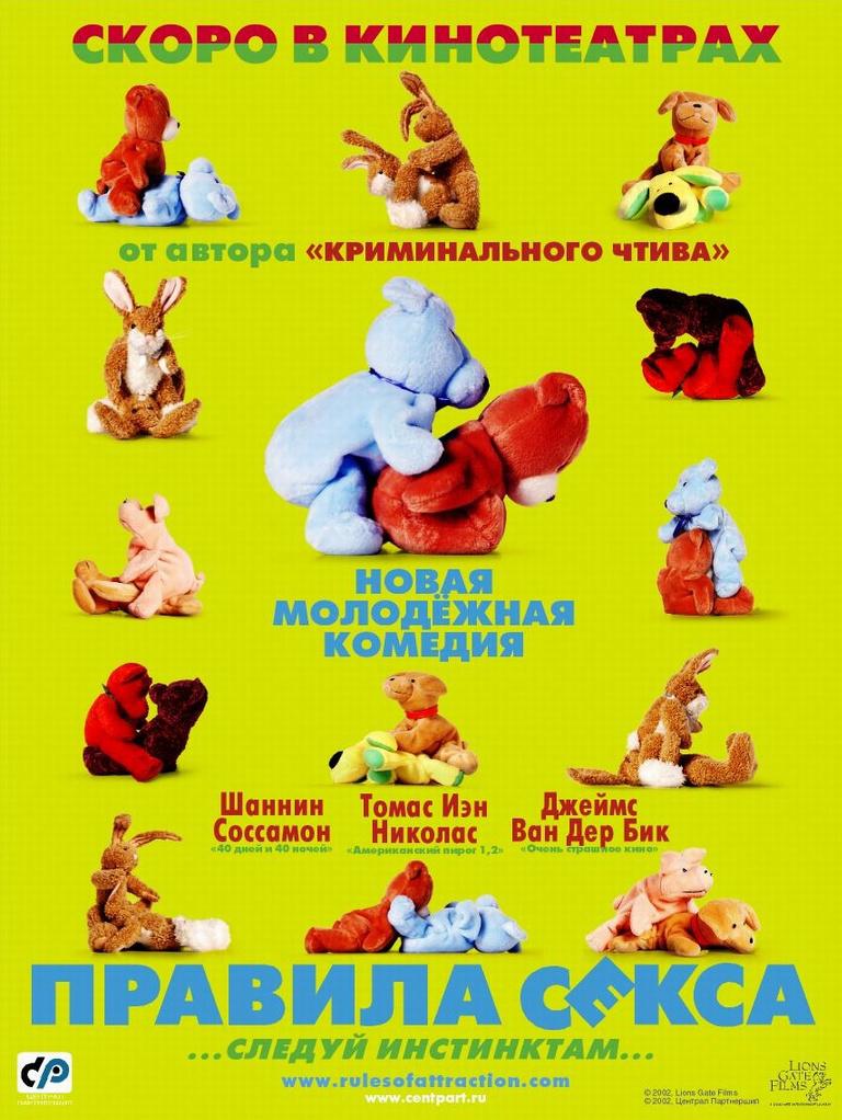 плакат фильма постер локализованные Правила секса