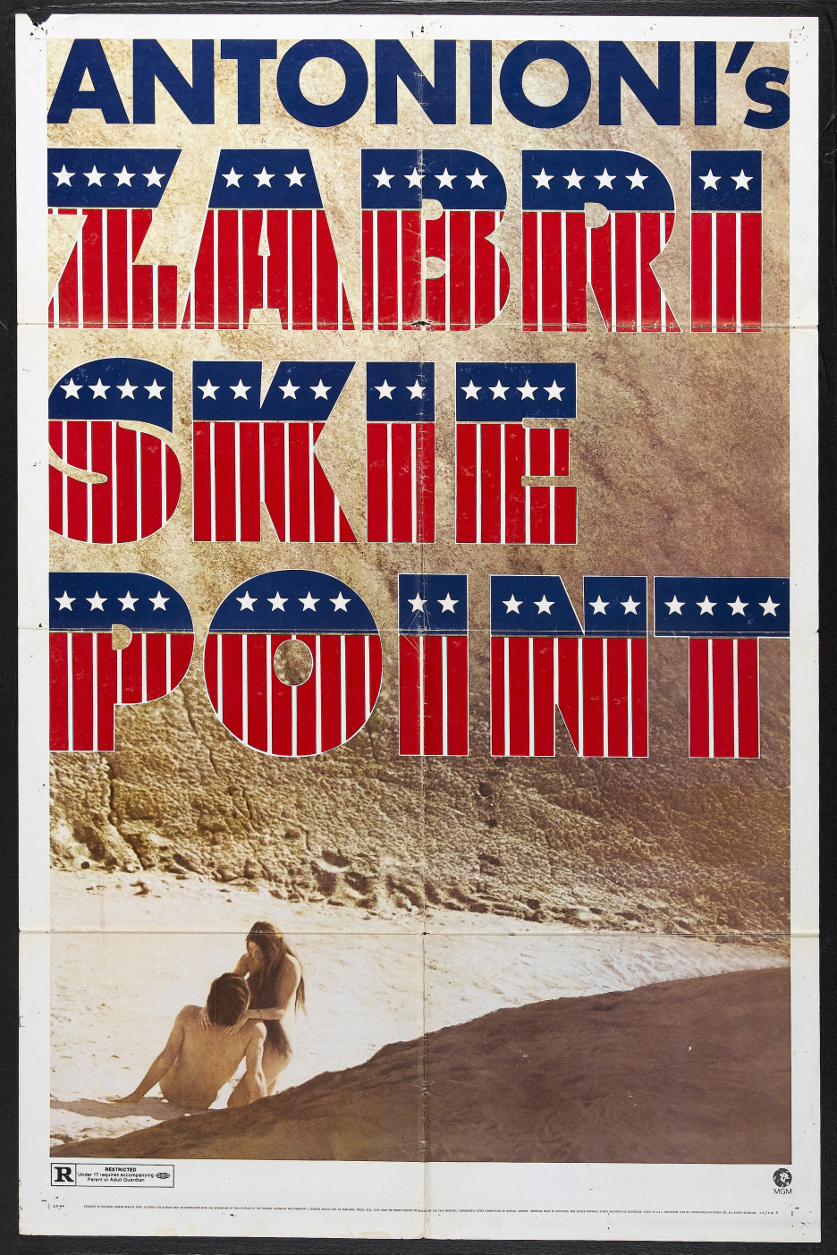 плакат фильма постер Забриски Пойнт