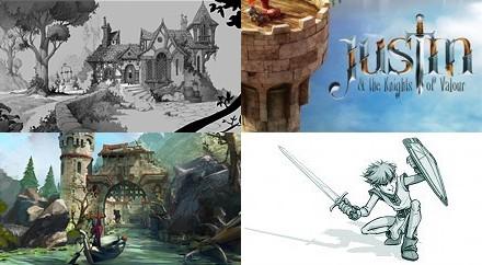 концепт-арты Джастин и рыцари доблести