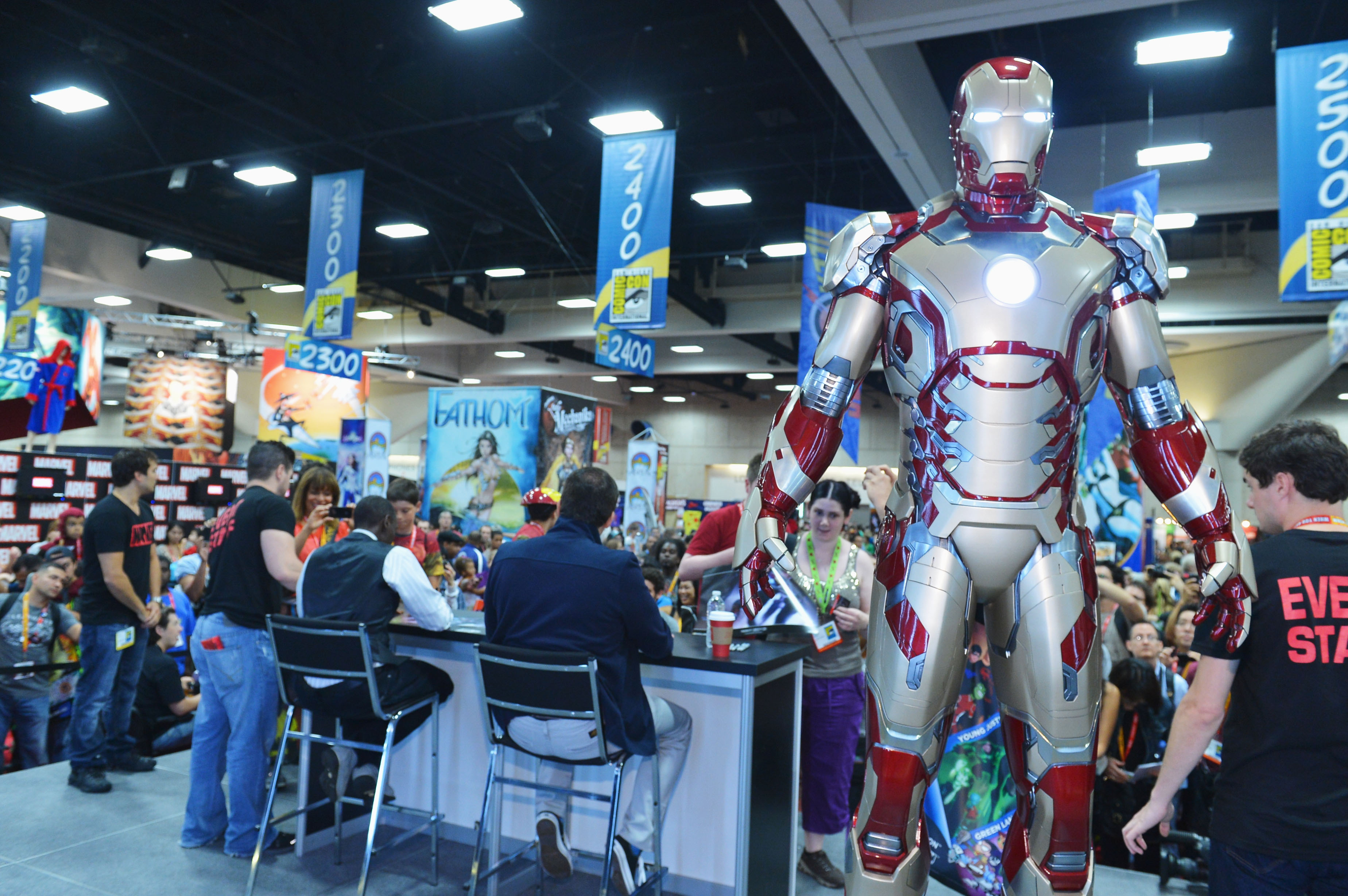 фотосессия «Железный человек 3» на Comic-Con 2012 Шейн Блэк, Дон Чидл,