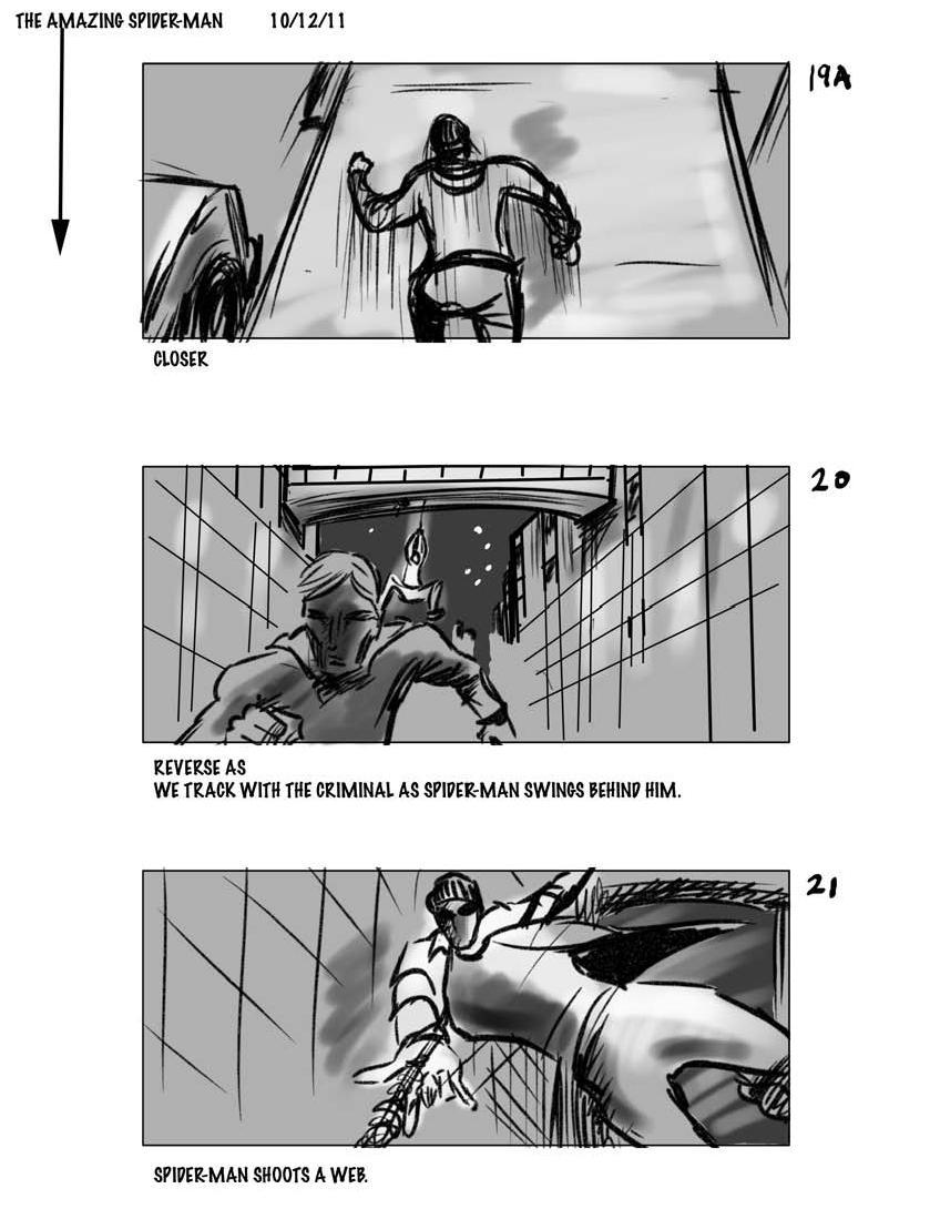 раскадровки Новый Человек-паук