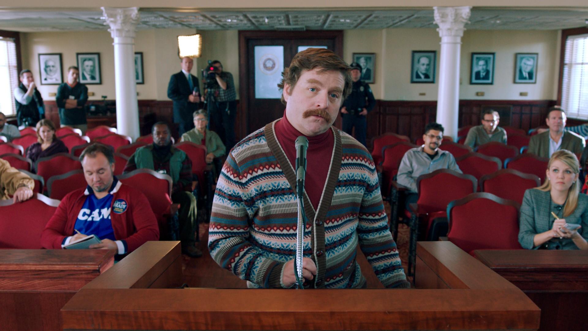 кадры из фильма Грязная кампания за честные выборы Зак Галифианакис,