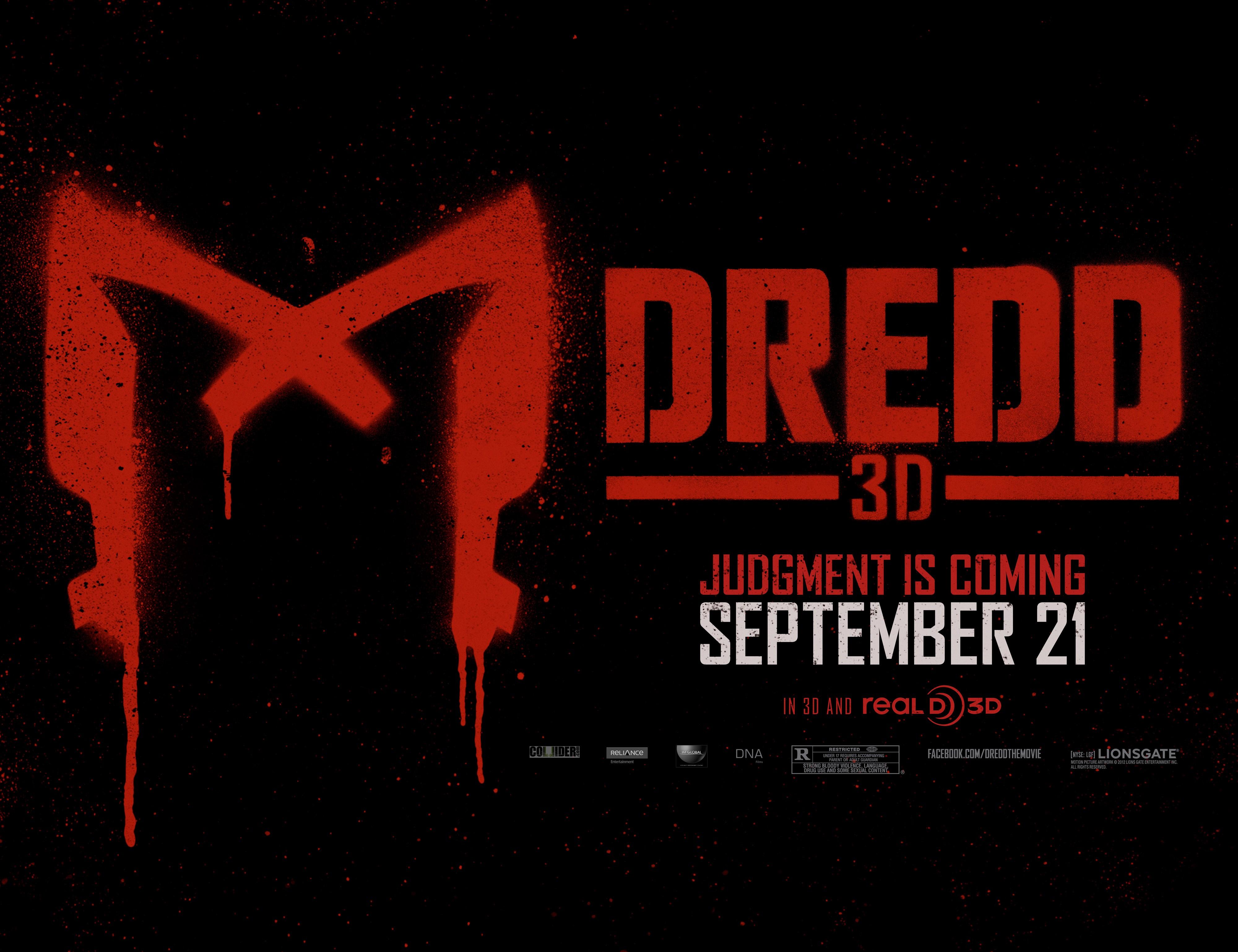 плакат фильма биллборды Судья Дредд 3D