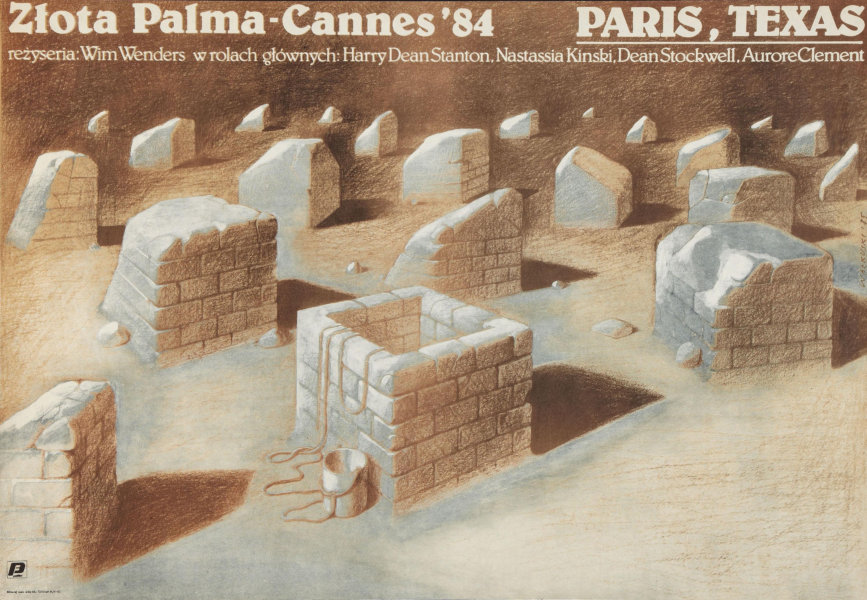 плакат фильма Париж, Техас