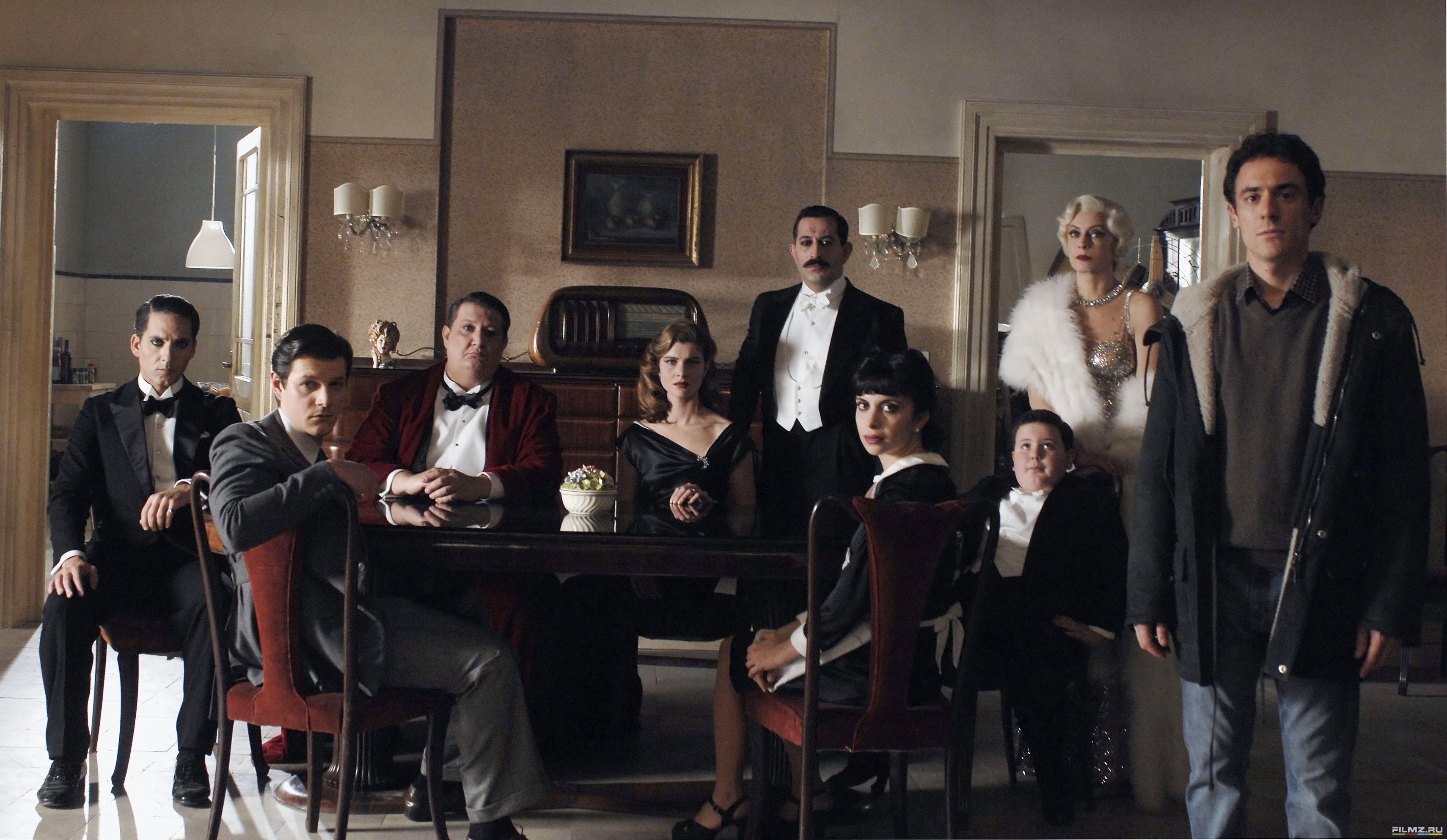 со съемок Присутствие великолепия Маргерита Буи, Андреа Боска, Элио Джермано, Виттория Пуччини,