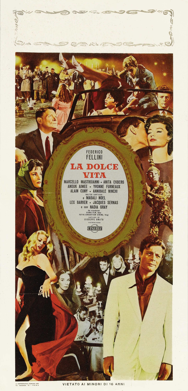 плакат фильма баннер Сладкая жизнь