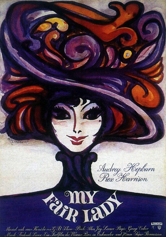 плакат фильма постер Моя прекрасная леди