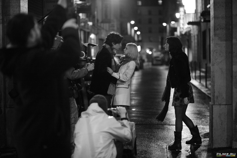 со съемок Все песни только о любви Клотильда Эсме, Людивин Санье, Луи Гаррель,