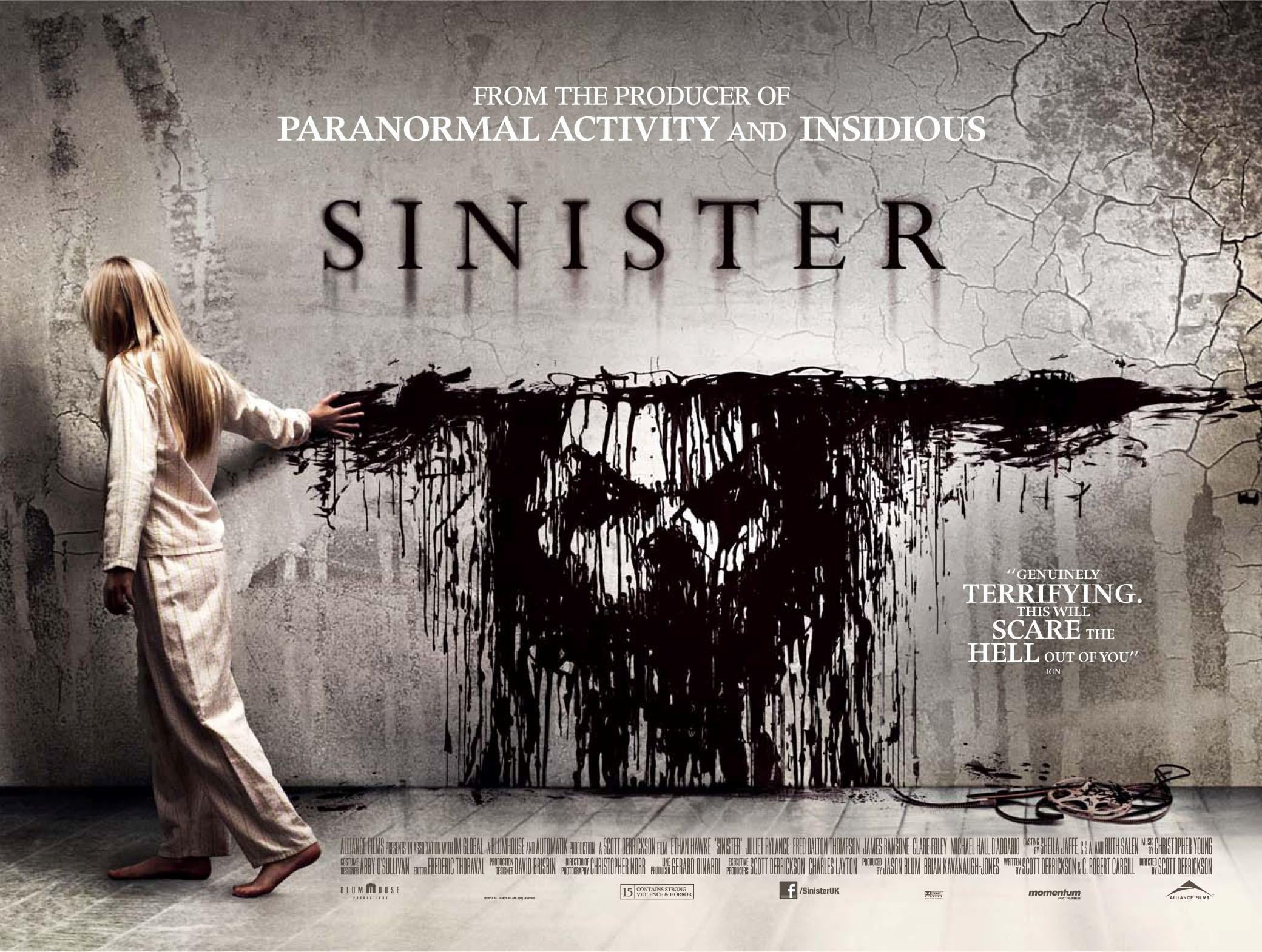 плакат фильма биллборды Синистер
