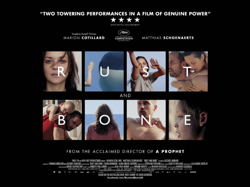 плакат фильма биллборды Ржавчина и кость
