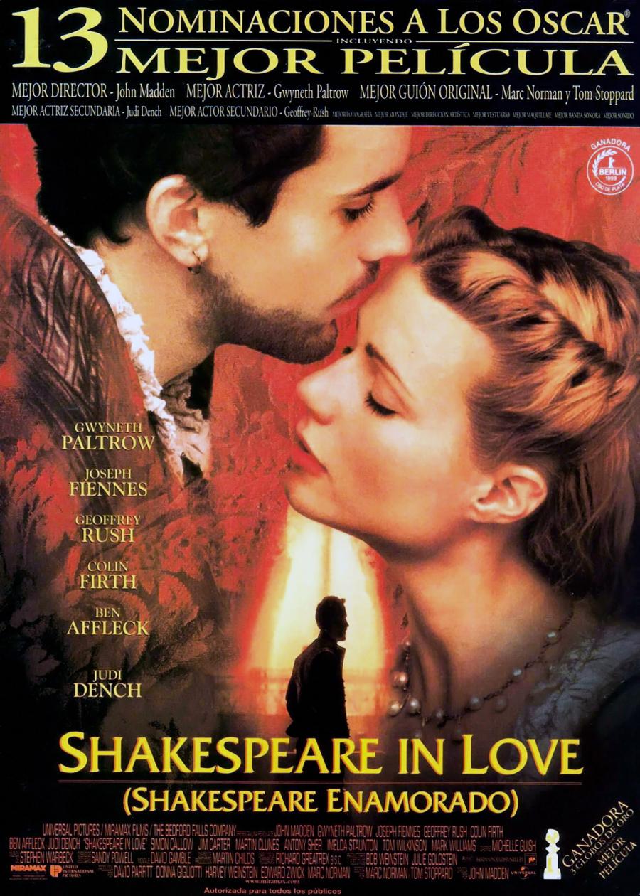 плакат фильма постер Влюбленный Шекспир