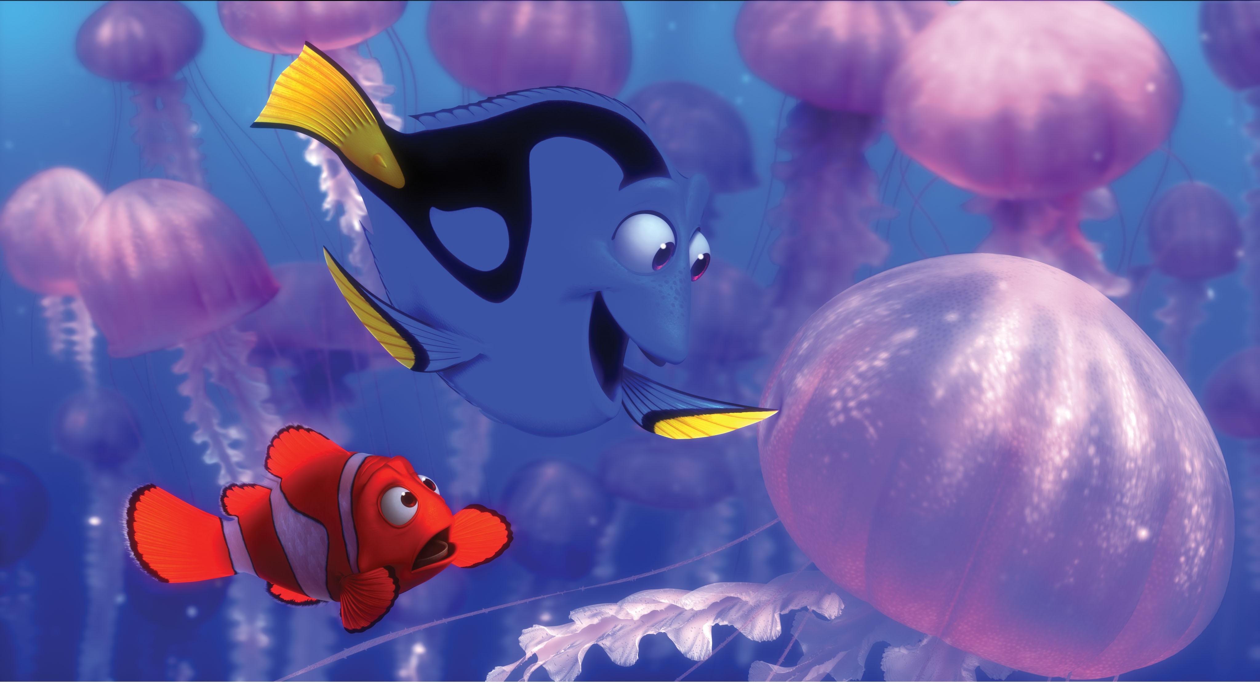 кадры из фильма В поисках Немо
