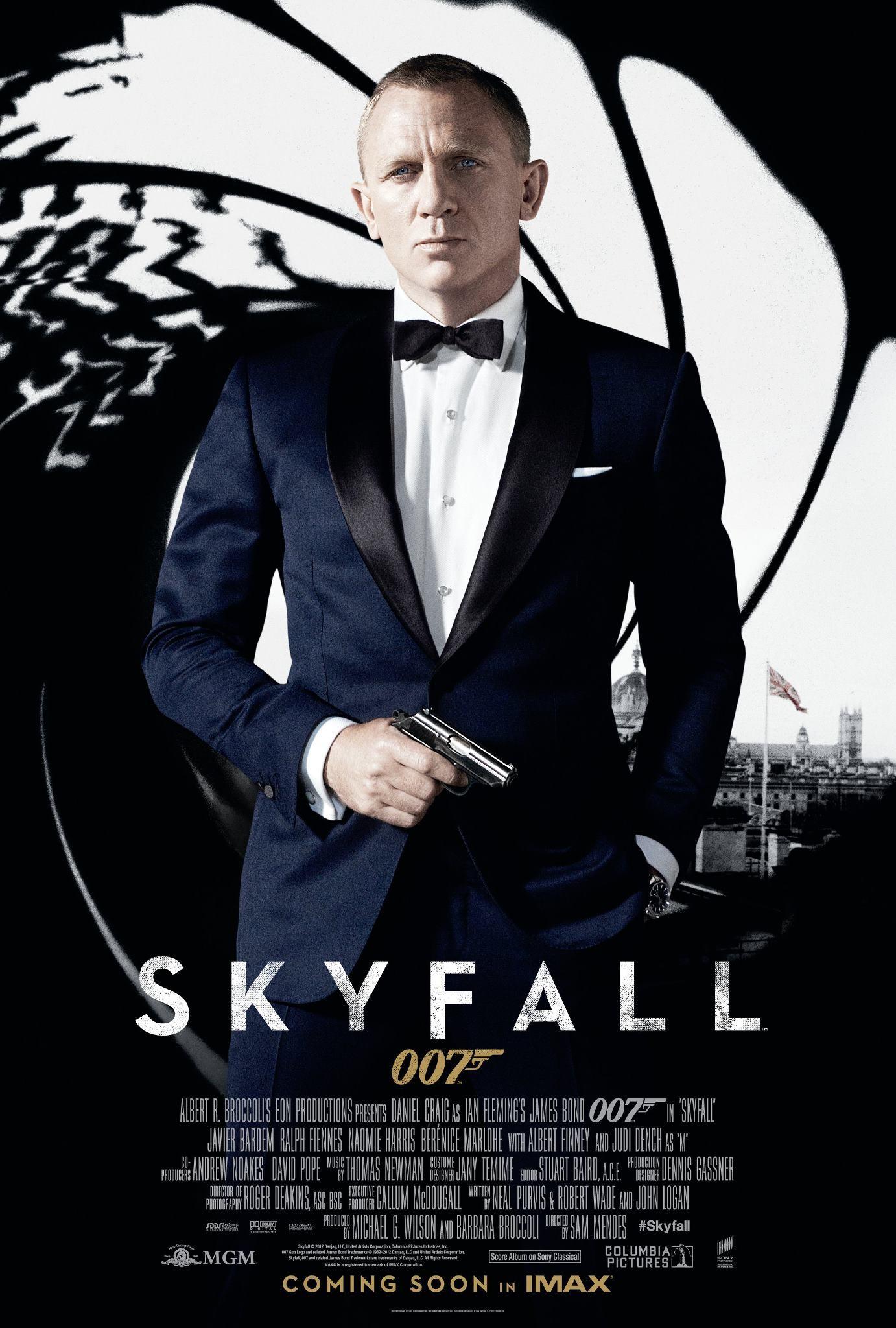 плакат фильма постер 007 Координаты Скайфолл